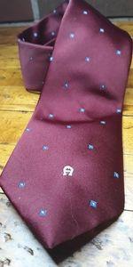Vintage Aigner Burgundy Neck Tie good cond.